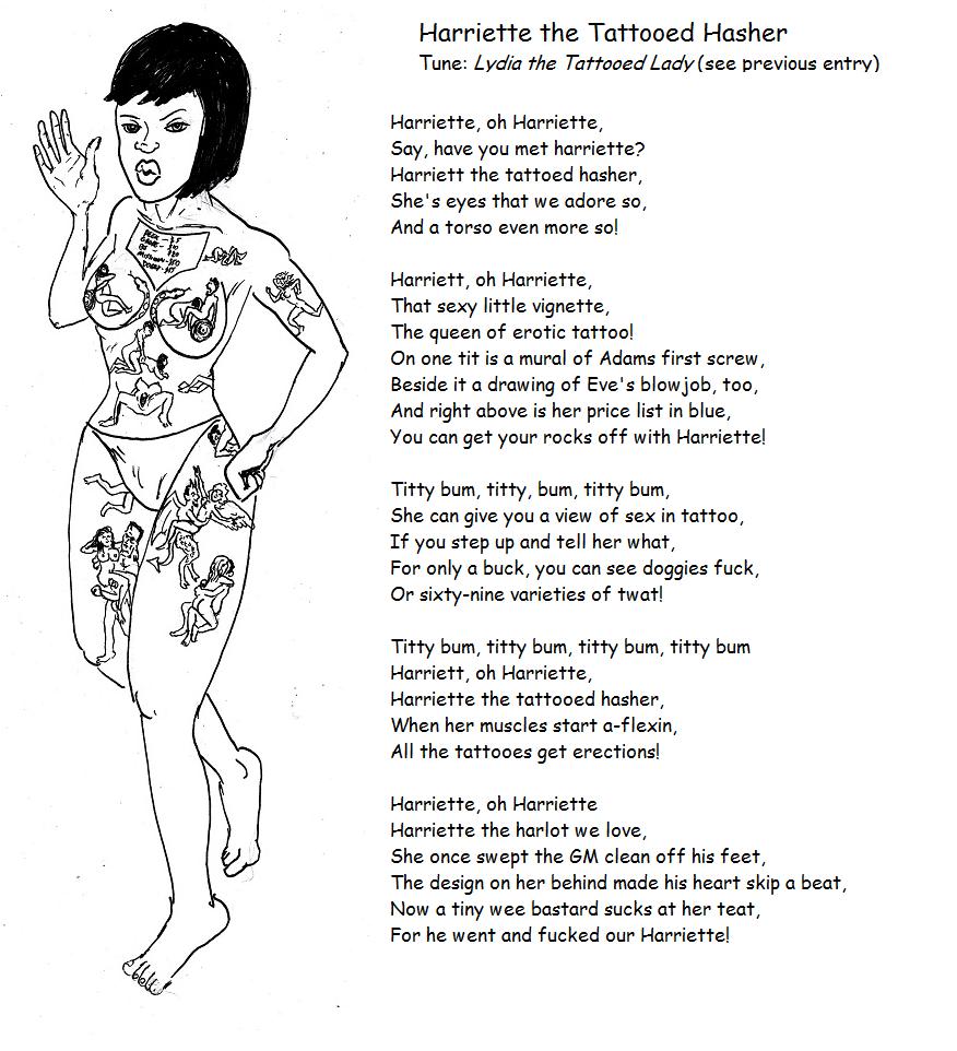 Harriette the Tattooed Hasher